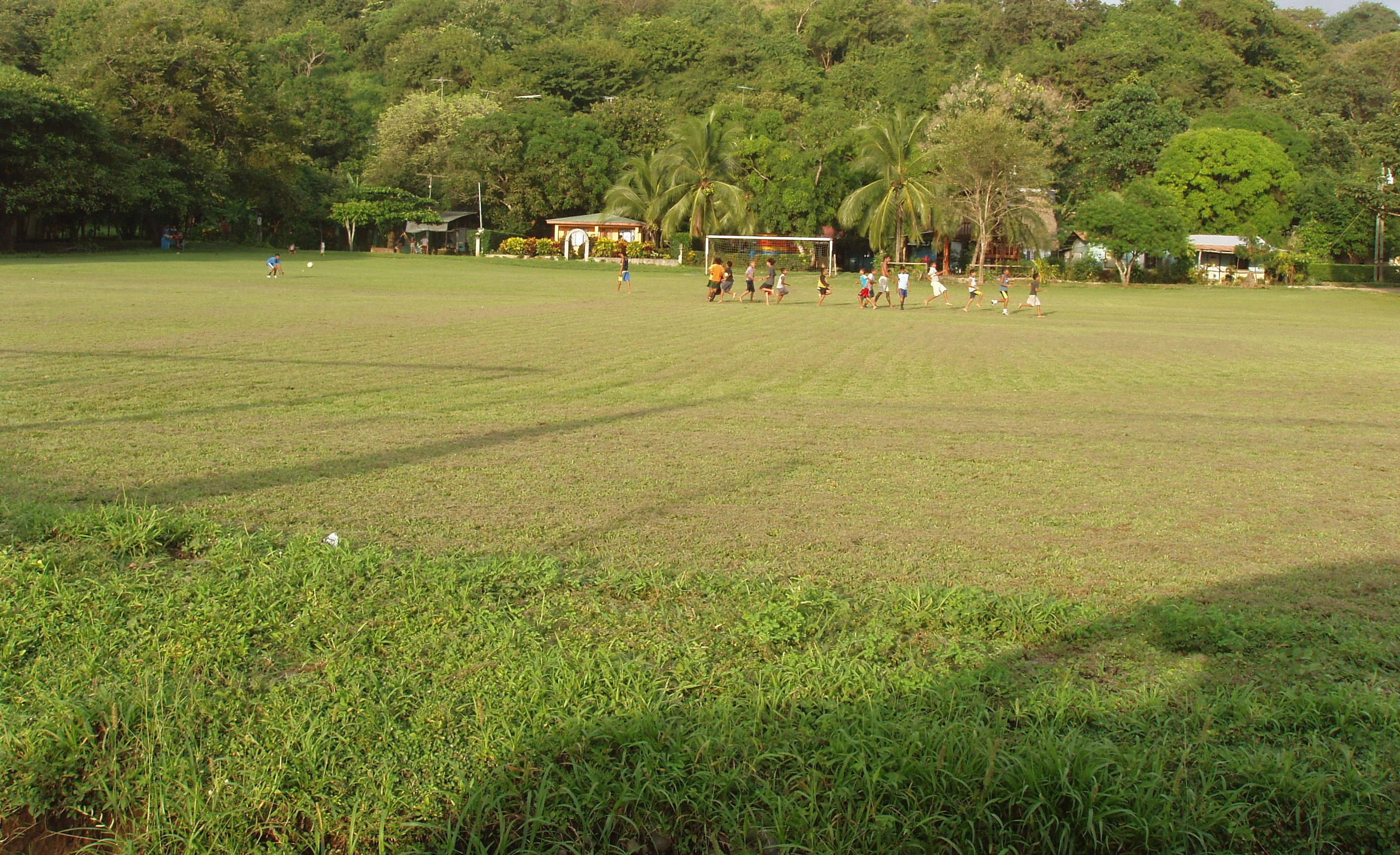 Kids playing in the Marbella Costa Rica soccer field