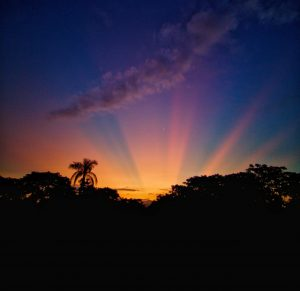 incredible sunset in Costa Rica